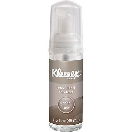 Kleenex 1.5oz Alcohol-free Foam Sanitizer - 1.50 oz - Kill Germs - Hand, Skin - Clear - Alcohol-free, Moisturizing, Antimicrobial, Dye-free, Fragrance-free, Non-flammable - 1 Each