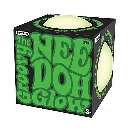 Nee Doh Glow-In-The-Dark Stress/Fidget Ball, Green