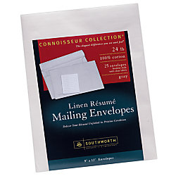 southworth resume envelopes 9 x 12 24 lb gray linen pack of 50 by
