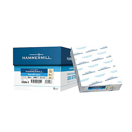 Hammermill® Fore Colors Multipurpose Paper, Letter Size Paper, 20 Lb, 30% Recycled, Tan, Ream Of 500 Sheets