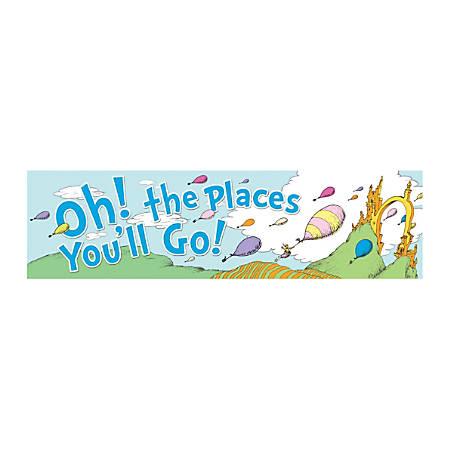 "Eureka Classroom Banner, 12"" x 45"", Dr. Seuss™ Oh The Places Balloons, Pre-K - Grade 5"