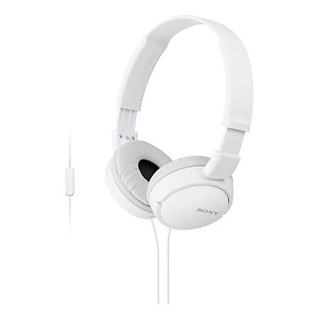 Sony® ZX On-Ear Monitor Headphones, White, MDRZX110AP/W