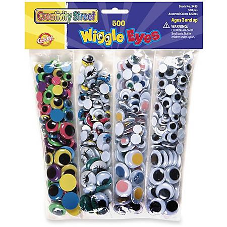 ChenilleKraft Wiggle Eyes Assortment, Pack Of 500