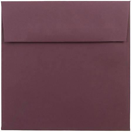 "JAM Paper® Color Square Invitation Envelopes, 6"" x 6"", Burgundy, Pack Of 25"