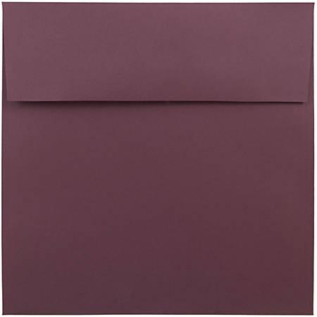 "JAM Paper® Color Square Invitation Envelopes, 8 1/2"" x 8 1/2"", Burgundy, Pack Of 25"