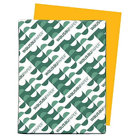 Neenah Astrobrights® Bright Color Paper, Letter Size Paper, 24 Lb, 30% Recycled, FSC Certified, Galaxy Gold, Ream Of 500 Sheets