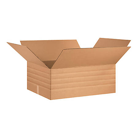 "Office Depot® Brand Multi-Depth Corrugated Boxes 30"" x 24"" x 12"", Bundle of 15"
