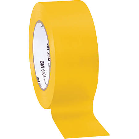 "3M™ 3903 Tartan™ Duct Tape, 3"" Core, 2"" x 50 Yd., Yellow, Case Of 3"
