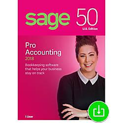 Sage 50 Pro Accounting 2018 US