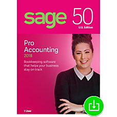 Sage 50 Pro Accounting 2018 US