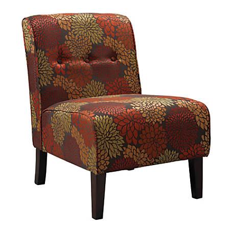 Linon Home Décor Products Winston Accent Chair, Harvest/Dark Walnut