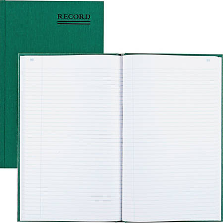 "Rediform Emerald Series Account Book - 500 Sheet(s) - Gummed - 7 1/4"" x 12 1/4"" Sheet Size - White Sheet(s) - Green Print Color - Green Cover - Recycled - 1 Each"