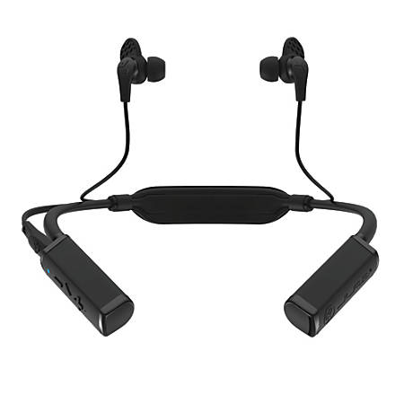 JLab Audio Gravity Bluetooth® Neckband Adapter With Earbuds, Black, EBGRAVITYRBLK62