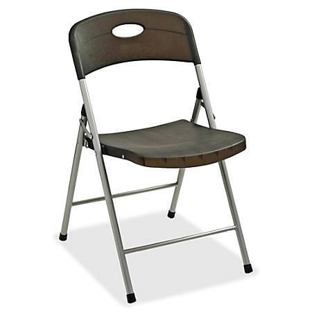 Lorell® Translucent Folding Chair, Smoke, Set Of 4