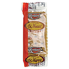 Keebler reg Wheat Crackers Wheat Packet