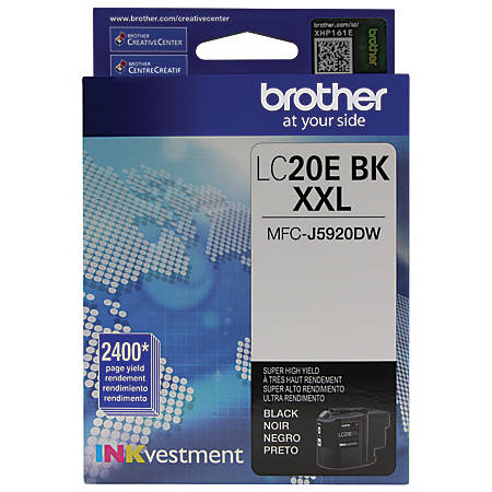 Brother® INKvestment LC20EBK Extra High Yield Black Ink Cartridge