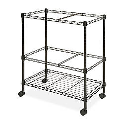 Lorell Mobile Wire File Cart 30