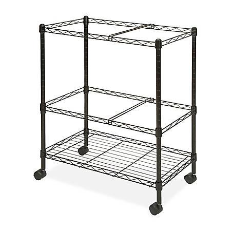 Lorell® Mobile Wire File Cart, 2-Tier, Black