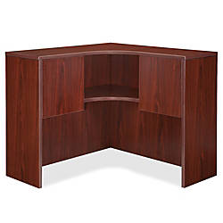 Lorell Essentials Series Corner Hutch Mahogany