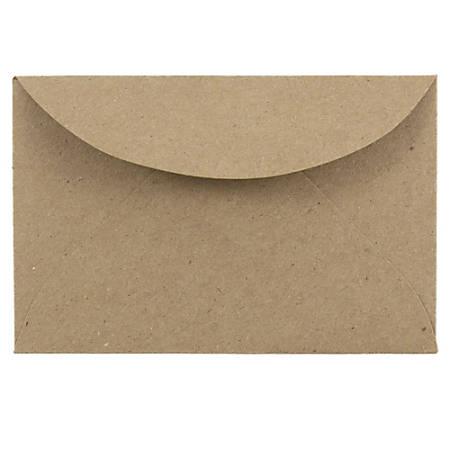 "JAM Paper® Booklet Mini Envelopes, 3 Drug, 2 5/16"" x 3 5/8"", 100% Recycled, Brown Kraft, Pack Of 25"