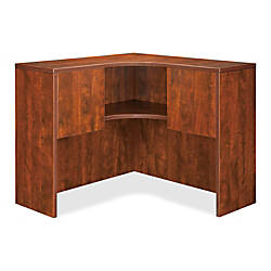 Lorell Essentials Series Corner Hutch Cherry