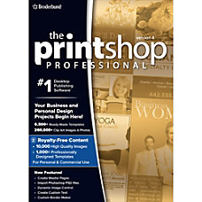 The Print Shop Professional 4 with