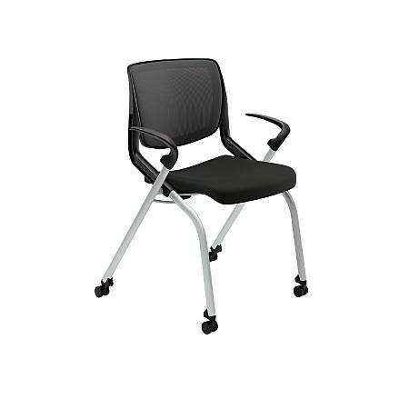 HON® Motivate Nesting/Stacking Flex-Back Chair, Black/Platinum