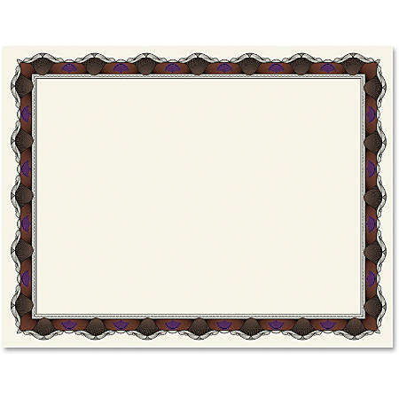 """Geographics Red Crown Certificate - 24 lb - 11"""" x 8.50"""" - Inkjet, Laser Compatible with White Border50 / Pack"""