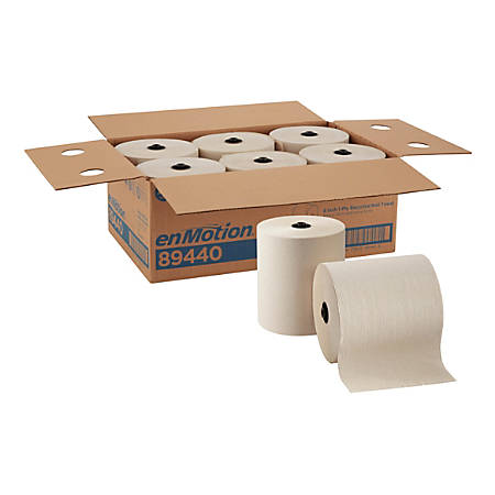 """enMotion® by GP PRO Paper Towel Rolls, 8"""" x 700', Roll, 100% Recycled, Brown, Case Of 6"""