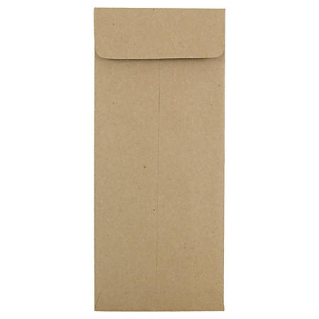 """JAM Paper® Policy Envelopes, #10, 4 1/8"""" x 9 1/2"""", 100% Recycled, Brown, Pack Of 25"""