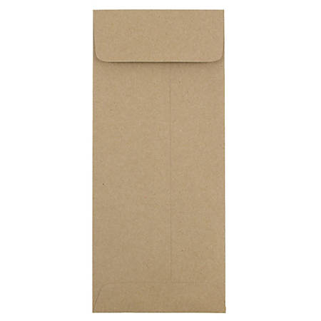 "JAM Paper® Open-End Policy Envelopes, #11, 4 1/2"" x 10 3/8"", 100% Recycled, Brown Kraft, Pack Of 25"