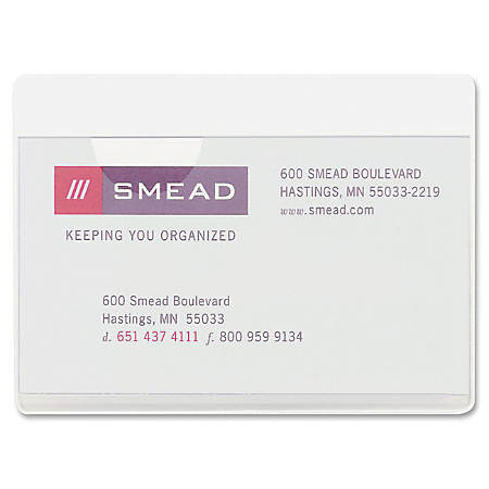 Smead self adhesive poly pockets 3 x 4 116 clear business card smead self adhesive poly pockets 3 colourmoves