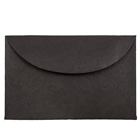 """JAM Paper® Booklet Mini Envelopes, 3 Drug, 2 5/16"""" x 3 5/8"""", 30% Recycled, Black, Pack Of 25"""