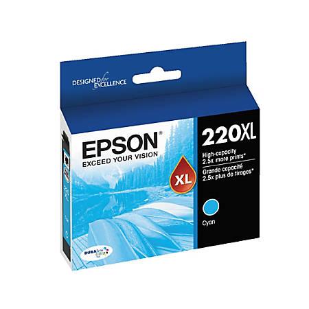 Epson® DuraBrite® Ultra T220XL220-S High-Yield Cyan Ink Cartridge
