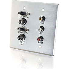 C2G 7 Sockets AudioVideo Faceplate