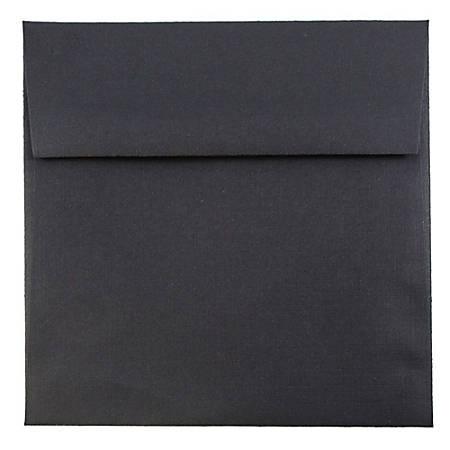 """JAM Paper® Square Linen Envelopes, 5 1/2"""" x 5 1/2"""", Black, Pack Of 25"""