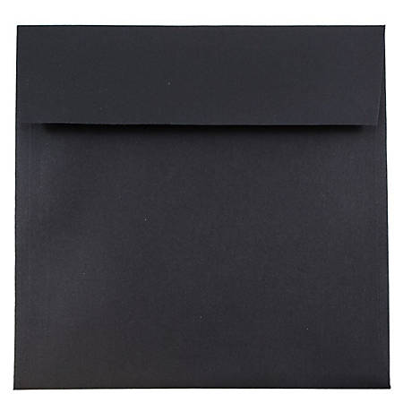 "JAM Paper® Square Linen Envelopes, 7 1/2"" x 7 1/2"", Black, Pack Of 25"