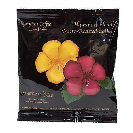 Hawaiian Blend Ground Coffee Filter Single-Serve Packets, 1.25 Oz, Carton Of 42