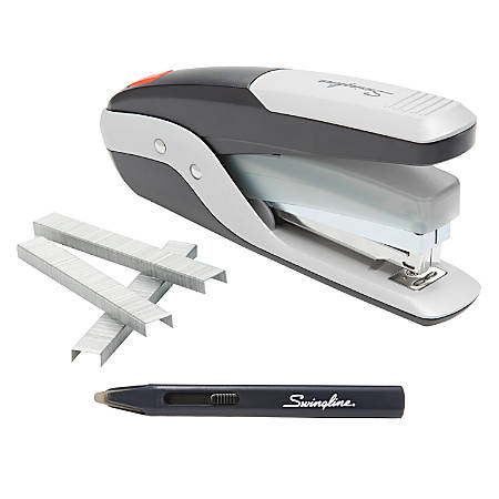 Swingline® Quick Touch™ Full-Strip Stapler, Black/Silver