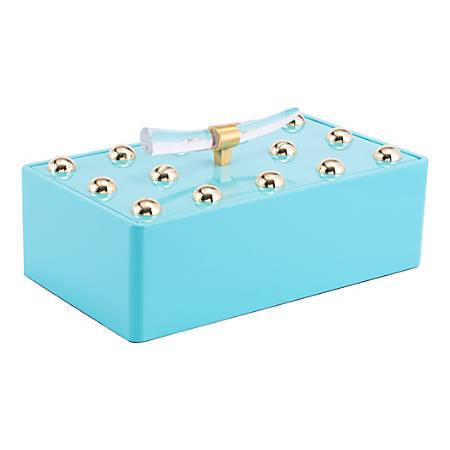 "Zuo Modern Gina Large Box, 7 1/8""H x 8 3/4""W x 15""D, Lake Blue"