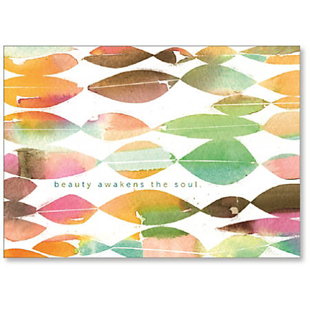 "Viabella Blank Note Greeting Card, Beauty, 5"" x 7"", Multicolor"