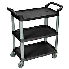 Luxor 3 Shelf Serving Cart 36