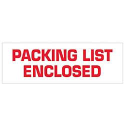 Tape Logic Packing List Enclosed Preprinted