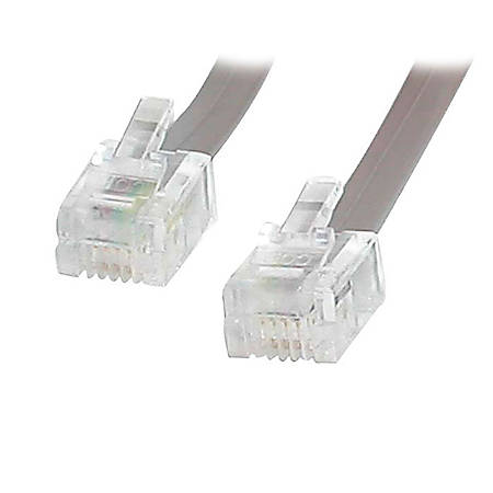 StarTech.com 25 ft RJ11 Telephone Modem Cable - RJ-11 Male - RJ-11 Male - 25ft - Gray