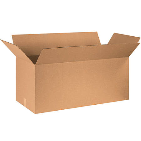 """Office Depot® Brand Corrugated Boxes, 20""""H x 20""""W x 40""""D, 15% Recycled, Kraft, Bundle Of 10"""