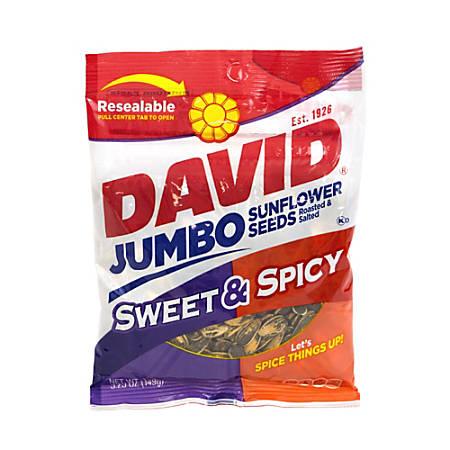 David Jumbo Seeds Sweet and Spicy, 5.25 oz, Box of 12