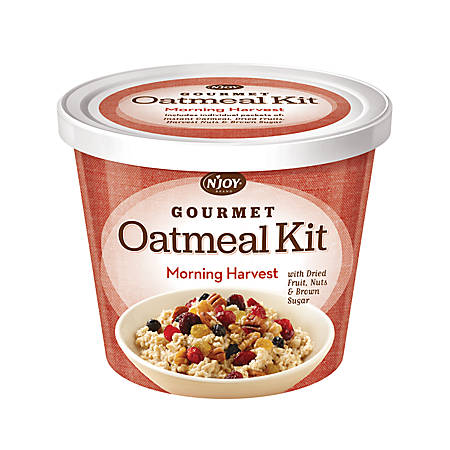 N' Joy® Oatmeal With Gourmet Toppings, Morning Harvest, 27.36 Oz, Pack Of 8