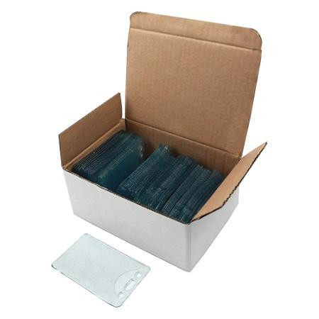 c line vinyl vertical id badge holders 2 38 x 3 38 clear pack of 100