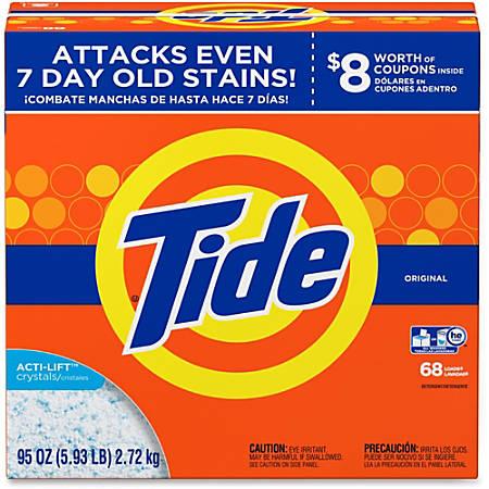 Tide Powder Laundry Detergent - Concentrate Powder - 94.88 oz (5.93 lb) - Original Scent - 1 / Box - Orange