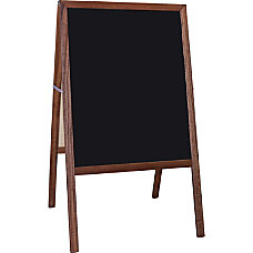 Flipside Stained Black Chalkboard Easel Stained